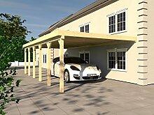 Anlehncarport Carport RHÖN VIII 400x900cm KVH Konstruktions-Vollholz Bausatz Anlehn Carpor