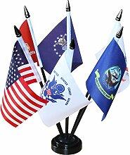Anley USA Armed Service Desk Flaggen-Set - 15,2 x