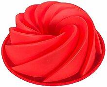 ANLIN 1 Stück Silikon Spiralmuster Kuchen Form