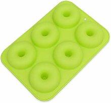 ANLIN Donut-Form mit 6 Mulden, Silikon, Donutform,