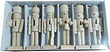 ANLUQIRIYON 6 Stücke Nussknacker Puppe Holz
