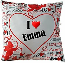 Ann Susan® Kissen bedruckt mit I Love Emma oder