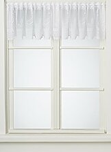 Anna Cortina Kurzgardine, Stoff, Weiß, 45x150