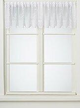 Anna Cortina Kurzgardine, Stoff, Weiß, 45x250