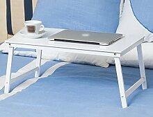 Anna Einfache Falt-Laptop-Tisch Mit Einem Kleinen Tisch-Schlafsaal-Lerntisch Farbe Optional ( Farbe : Weiß )