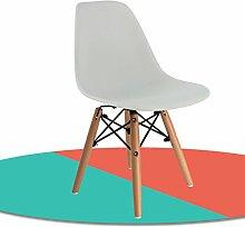 Anna Kinderstuhl Nordic Wooden Kinder Freizeit Stuhl Rückenlehne Stuhl Student Learning Training Stuhl (Farbe : #5, design : Pack of 1)