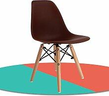 Anna Kinderstuhl Nordic Wooden Kinder Freizeit Stuhl Rückenlehne Stuhl Student Learning Training Stuhl (Farbe : #8, design : Pack of 3)