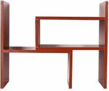 Anna Schelf anzeigen TH Einfaches und modernes teleskopisches Bücherregal-kreatives Schreibtisch-kleines Bücherregal-einfaches Speicher-Bücherregal-Leben-Regal (Farbe : Redwood color)