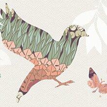 anna wand Bordüre selbstklebend DREAM BIRDS - Wandbordüre Kinderzimmer / Babyzimmer mit floralen Vögeln - Wandtattoo Schlafzimmer Mädchen & Junge, Wanddeko Baby / Kinder