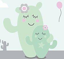 anna wand Bordüre selbstklebend Family Cactus -