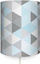 anna wand Wandlampe Dreiecke BLAU/GRAU -