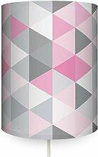 anna wand Wandlampe Dreiecke ROSA/GRAU -