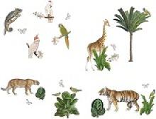 anna wand Wandsticker Dschungel mehrfarbig