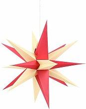 Annaberger Faltstern mit rot-gelben Spitzen - 58 cm