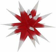 Annaberger Faltstern original Beleuchtung, rot mit