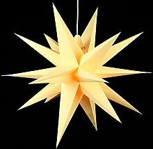 Annaberger Faltstern - Weihnachtsstern - Gelb 70cm