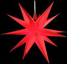 Annaberger Faltstern - Weihnachtsstern - Rot 60cm