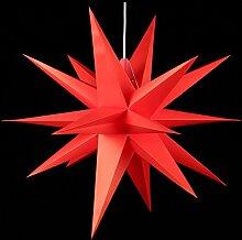 Annaberger Faltstern - Weihnachtsstern - Rot 70cm