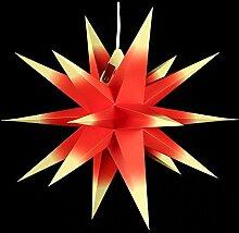 Annaberger Faltstern - Weihnachtsstern - Rot-Gelb