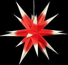 Annaberger Faltstern - Weihnachtsstern - Rot-Weiß