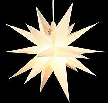 Annaberger Faltstern - Weihnachtsstern - Weiß