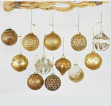 Annastore 12 x Weihnachtskugeln aus Glas zum