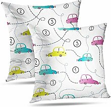 Annays Kissenbezug Cars Watercolor Pillowcase