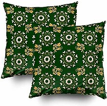 Annays Throw Pillow Covers Royal Luxury Golden