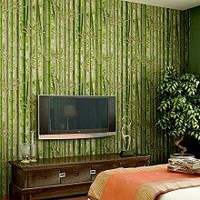 ANNDEEW Frische Blätter Teehaus Tee Hintergrund Bambus Tapete 3D Wallpaper , 86091 green