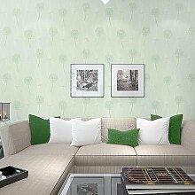 ANNDEEW Löwenzahn-Vlies-Tapete Wohnzimmer Tapeten romantische frischen Löwenzahn Schlafzimmer Tapeten , 91603 green