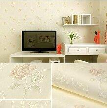 ANNDEEW Romantische pastorale Hintergrundbilder Schlafzimmer warm Vliesstoff Wohnzimmer Wallpaper Hintergrundbilder
