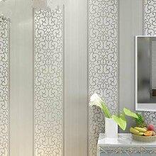 ANNDEEW Tapete einfache Vlies-3D Relief Längsstreifen Tapete warme Schlafzimmer/Wohnzimmer TV Hintergrund Tapeten , 3