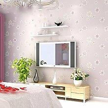 ANNDEEW Vlies Tapete warm pastoralen kleinen Blumentapete kleine frische schlichte Schlafzimmer Wohnzimmer Wand zu Wand 3D geprägte Tapeten
