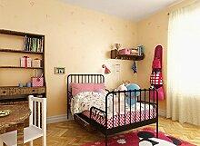 ANNDEEW Vliestapete ABC Alphabet Cartoon Tapeten Zimmer Kinderzimmer für Jungen und Mädchen , classic yellow