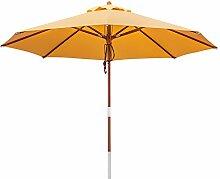 anndora 300060 Sonnenschirm, sahara gelb, 300 cm rund, Gestell Holz, Bespannung Polyester, 9.5 kg