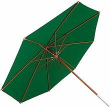 anndora Sonnenschirm, dunkelgrün, 400 cm rund, Gestell Holz, Bespannung Polyester, 20 kg