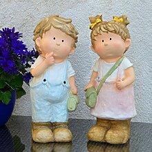 Annie & Kai Sommerkinder 37cm Gartenfigur Gartendekoration Gartenzwerge