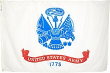 Annin Armee Flagge US Army 4 by 6 Foot Nicht