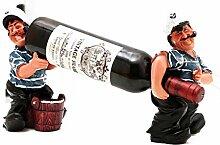 AnnJPJ Weinflaschenhalter, Doppel Harz Hand Bemalt