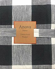 Anova Home Stoff-Tischdecke mit Streifenmuster,