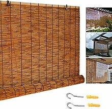 Anpassbar Karbonisiert Schilf Vorhang,Bambus