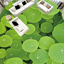 Anpassbare 3D-Fototapete grün Lotusblatt Wandbild