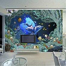 Anpassbare Größe 3D Fototapete Unterwasser