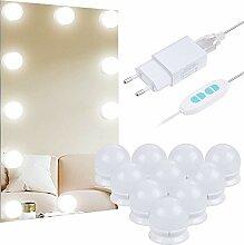 Anpro 10Stk Spiegel Beleuchtung Hollywood-Stil LED