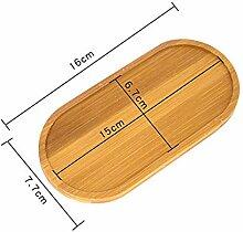 Anqeeso 1 Stück Bambus-Pflanzen-Untersetzer