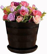Anqeeso Blumentopf, Kunststoff, Kreis Blumentöpfe