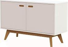 Anrichte - 70er Style - Weiß/ Eiche - Olbia