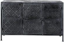 Anrichte aus Metall, schwarz Menara