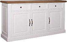 Anrichte LandhausstilYork Shabby chic Oak 3 Türen