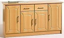 Anrichte Schubladenkommode mit 4 Türen in Buche
